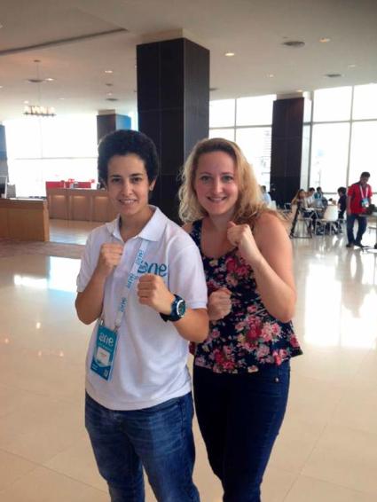 Jasmin und Kampfsport-Lehrerin